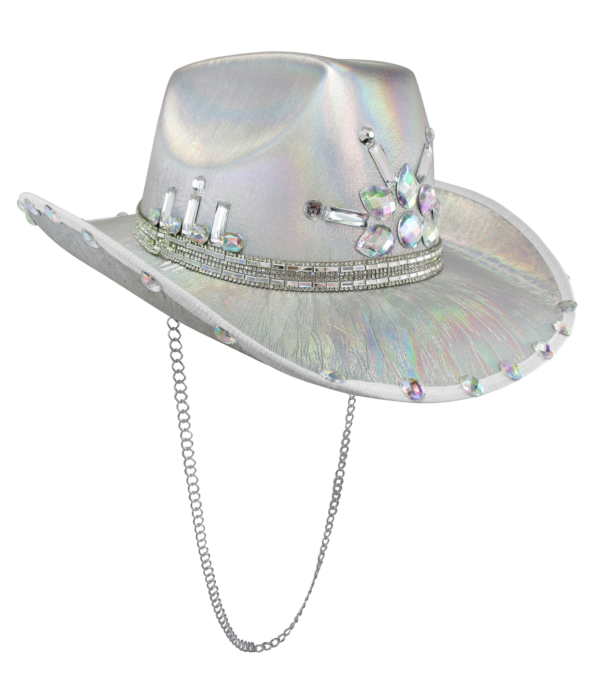 thumbnail 12 - Iridescent-Jewels-Gems-Gay-Pride-Festival-Bachelorette-Party-Cowgirl-Cowboy-Hat