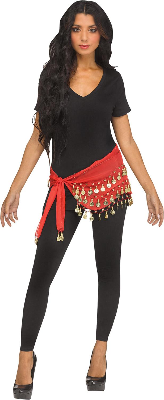 thumbnail 7 - Women-Bohemian-Head-Scarf-Belly-Dancer-Skirt-Wrap-Gold-Coins-Halloween-Costume