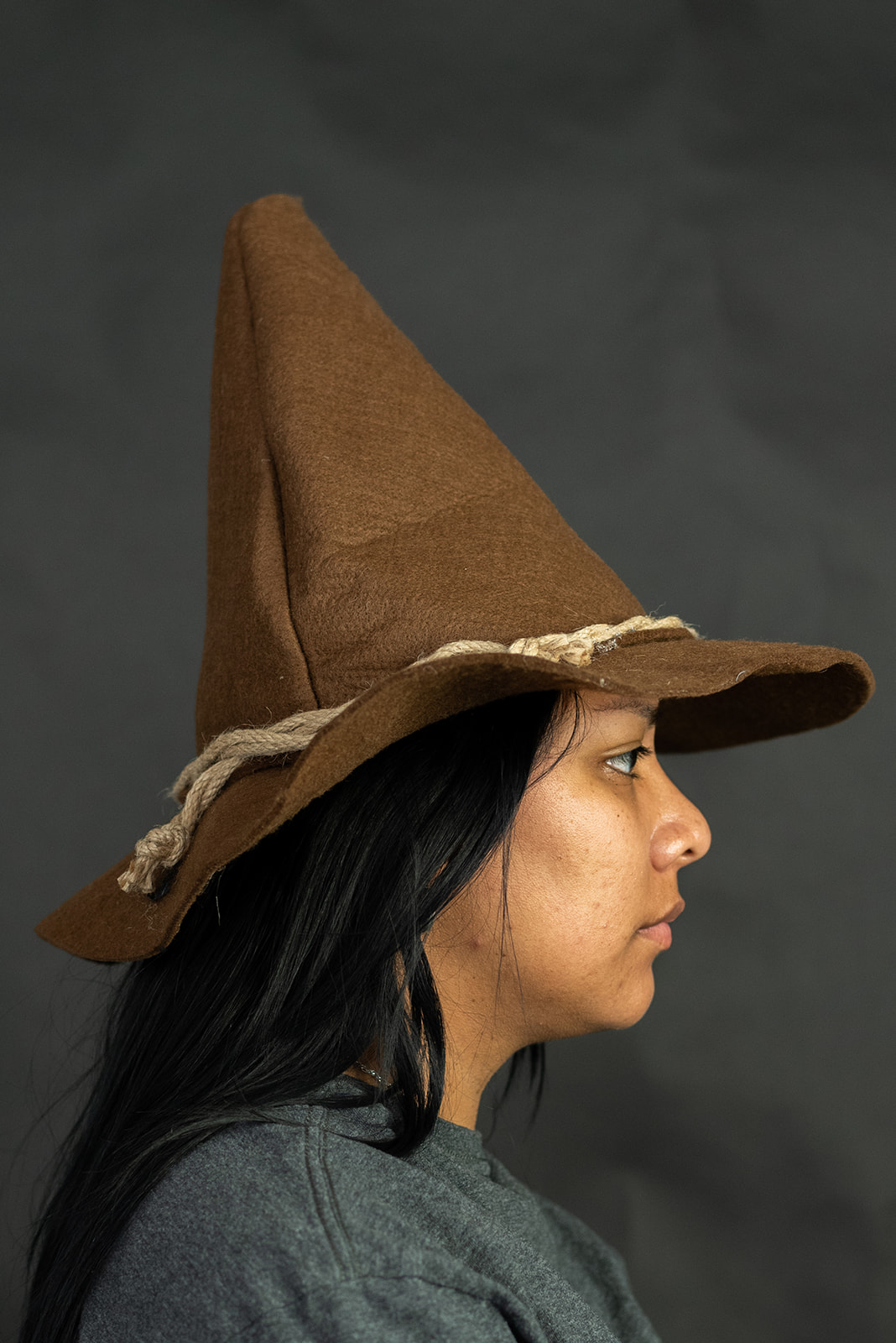 thumbnail 13 - Adult Scarecrow Hat Deluxe Felt Oktoberfest Wizard Witch Hillbilly Hat Costume