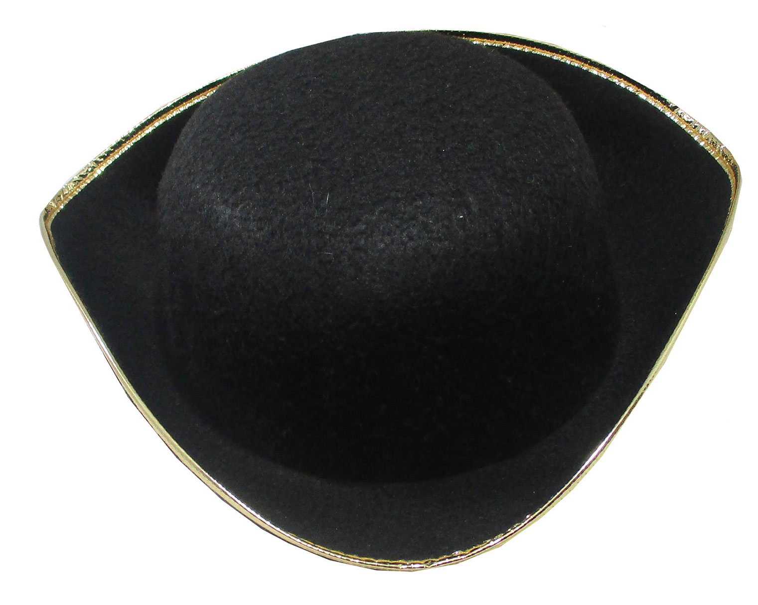 thumbnail 3 - Tri-Corner-Felt-Pirate-Hat-Large-Black