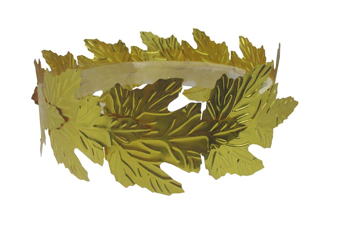 Roman Greek Ceaser Gold Leaf Goddess God Laurel Crown Toga Halloween Accessory