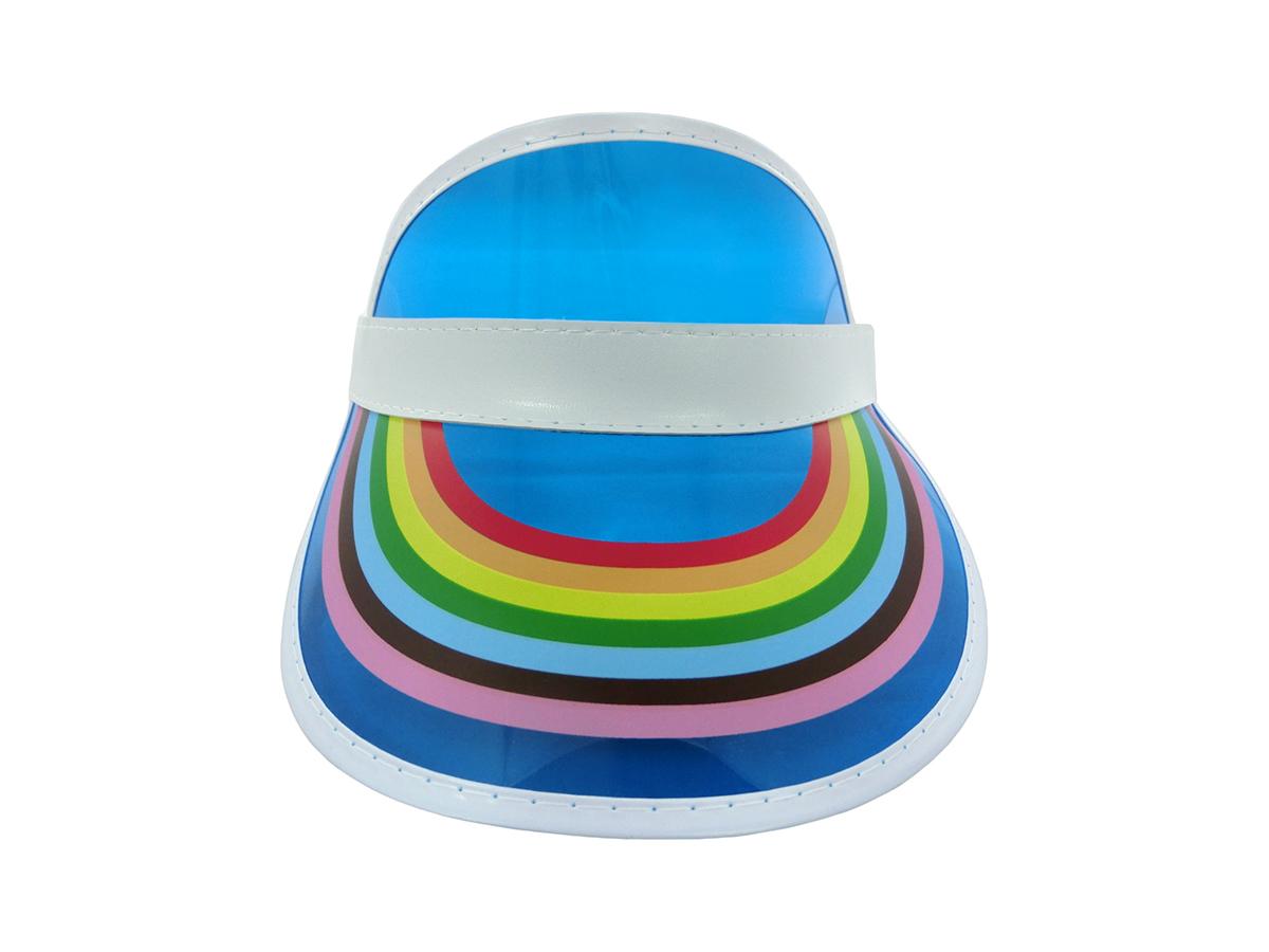 thumbnail 7 - Retro Rainbow Color Sun Visor Beach Plastic Vegas Golf LGBTQ Gay Pride Hat