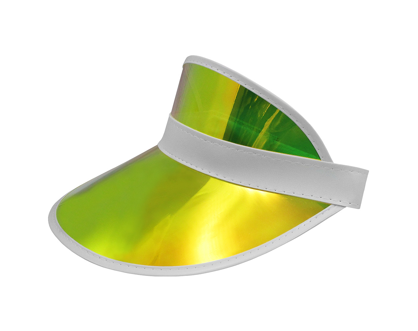 thumbnail 4 - Tennis-Beach-Iridescent-Mirrored-Plastic-Sun-Vegas-Golf-Casino-Visor-Hat-Qty-3
