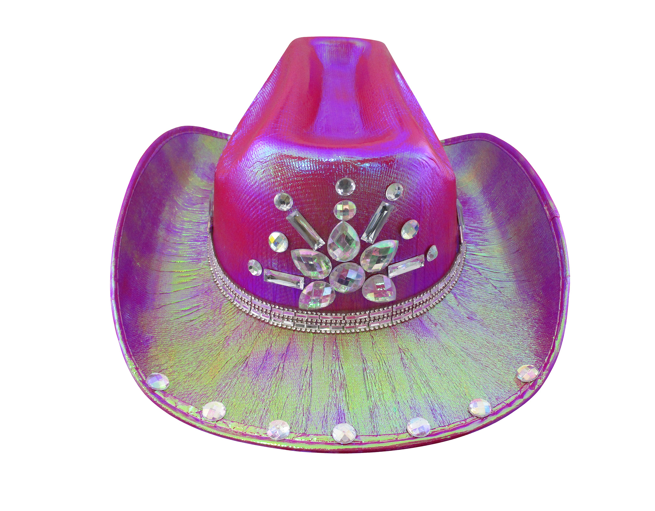 thumbnail 8 - Iridescent-Jewels-Gems-Gay-Pride-Festival-Bachelorette-Party-Cowgirl-Cowboy-Hat