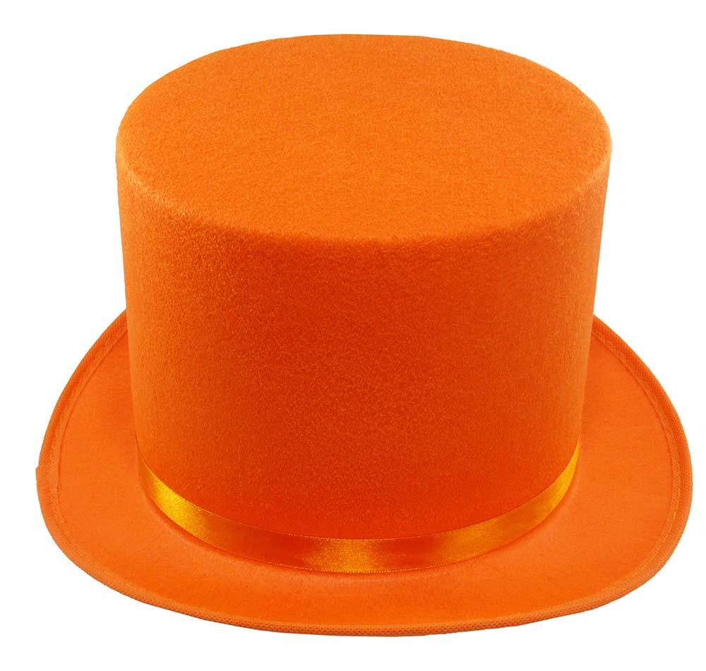 thumbnail 10 - Dumb and Dumber Orange Tall  Felt Top Hat Lloyd Christmas Costume Accessory