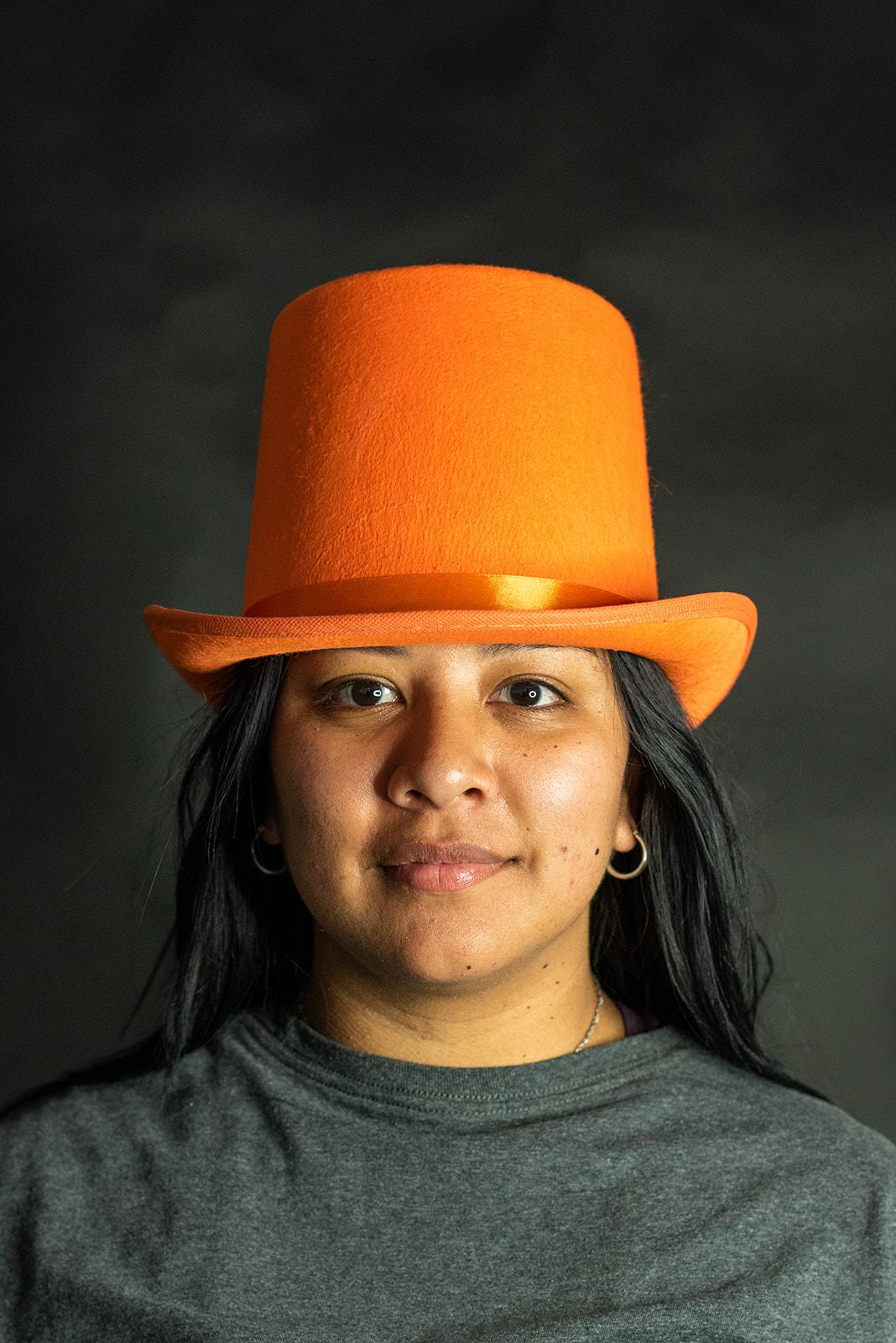thumbnail 8 - Dumb and Dumber Orange Tall  Felt Top Hat Lloyd Christmas Costume Accessory