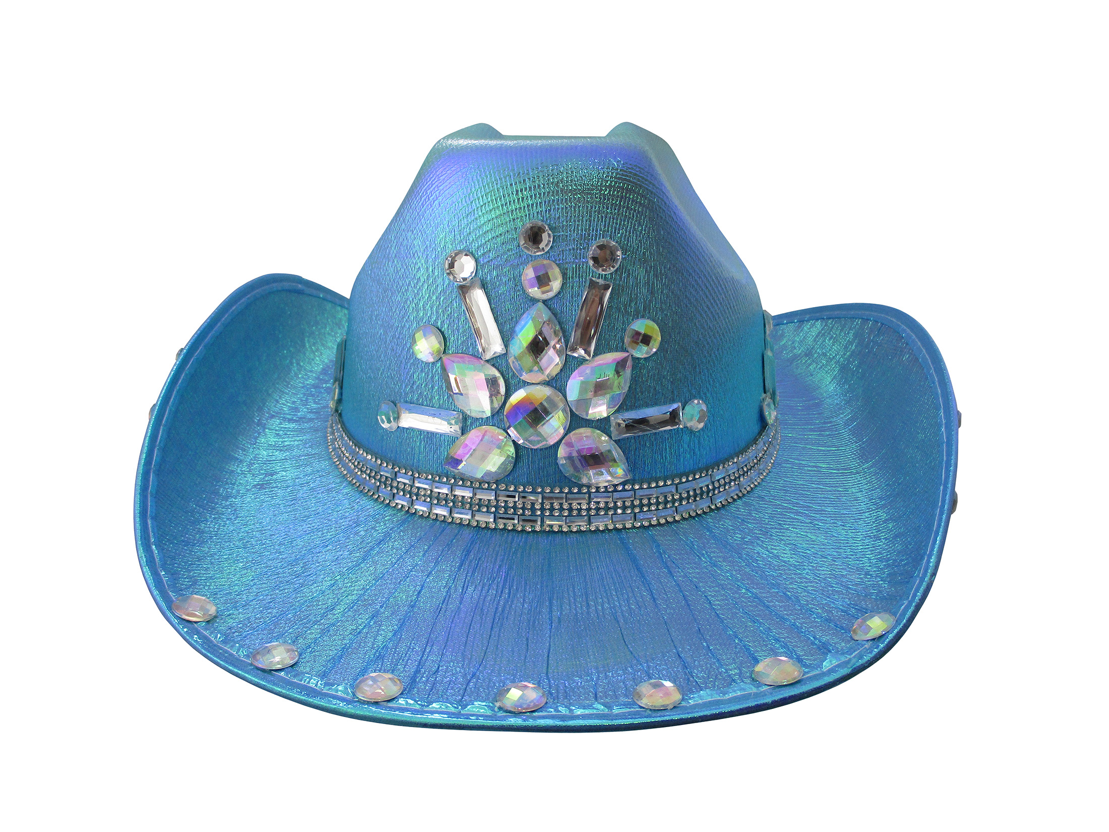thumbnail 3 - Iridescent-Jewels-Gems-Gay-Pride-Festival-Bachelorette-Party-Cowgirl-Cowboy-Hat
