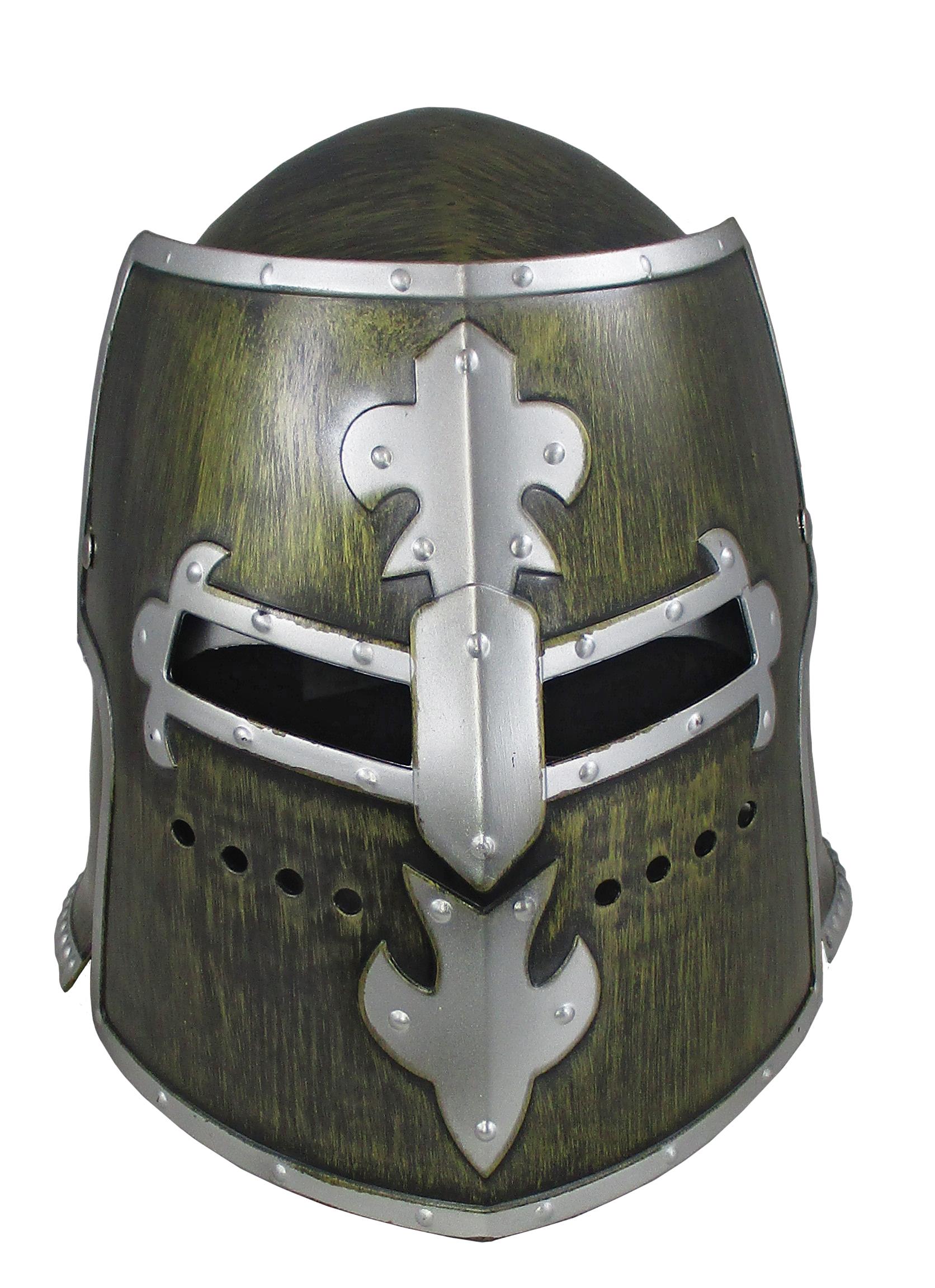 thumbnail 3 - Silver Pewter Knight Roman Armor Crusader Helmet Mask Medieval Adult Costume