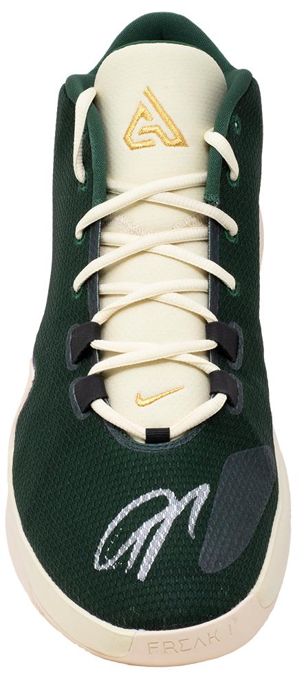 Giannis Greek Freak Antetokounmpo Signed R Green Nike Zoom ...
