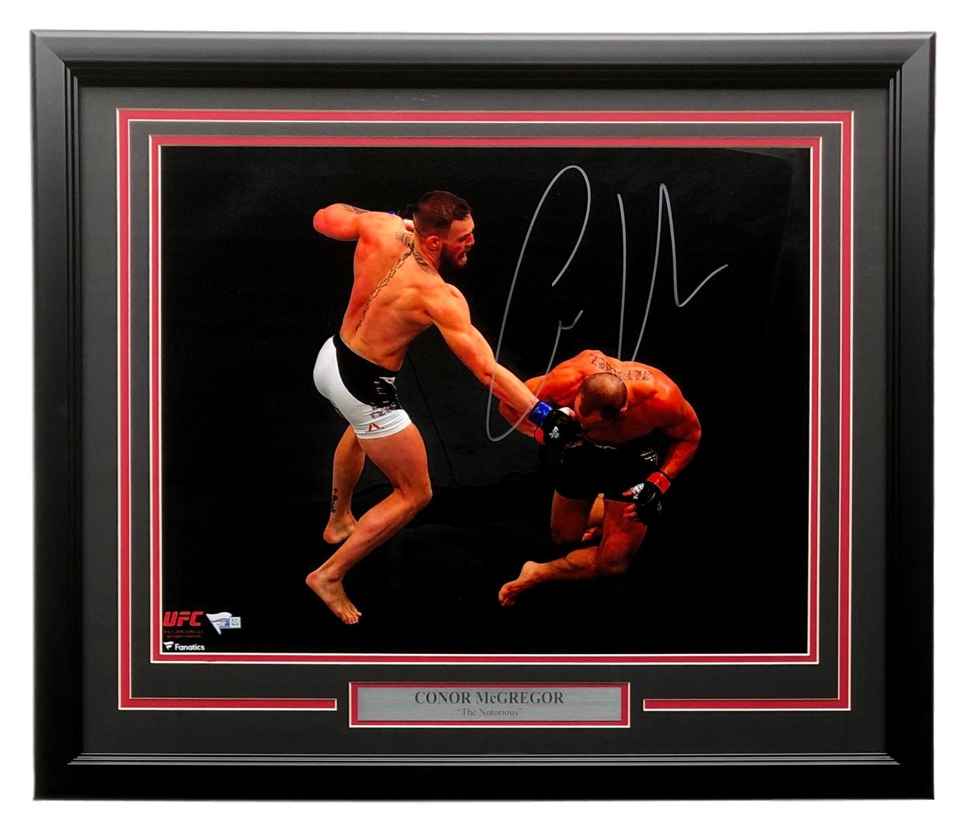 Conor McGregor Signed Framed UFC Double Champ 16x20 Photo Fanatics