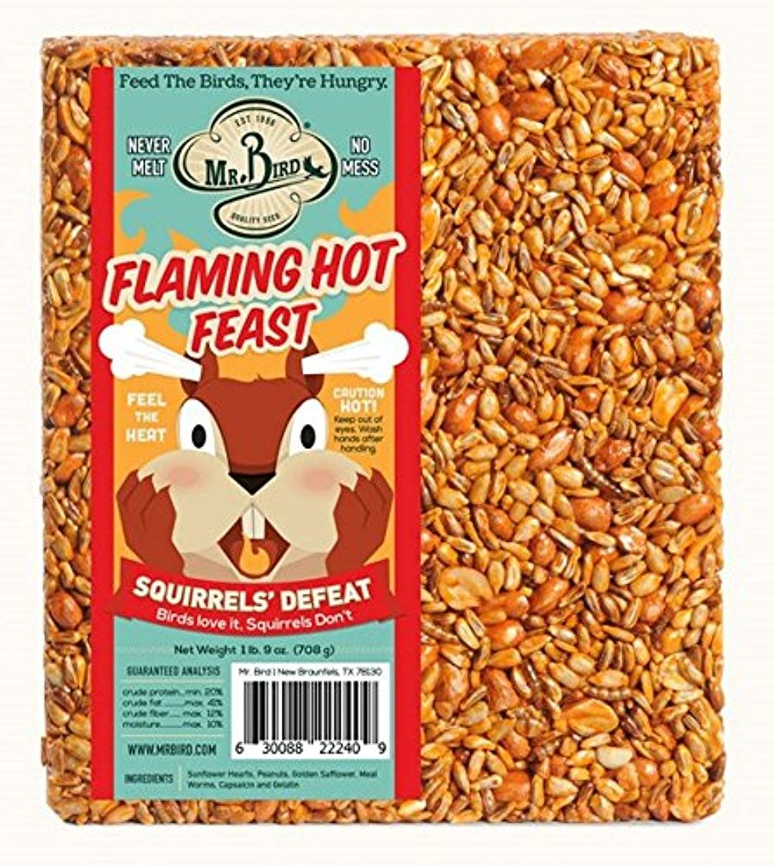 9 oz. Bird Flaming Hot Feast Large Wild Bird Seed Block 1 lb Mr