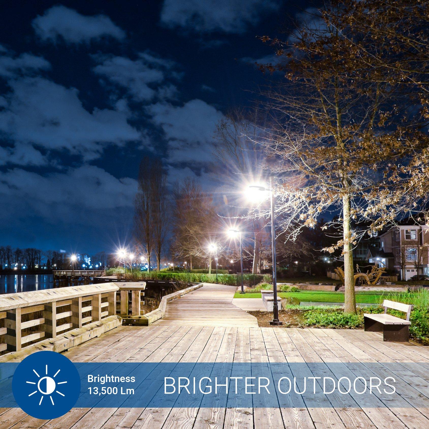 E39 Base UL DLC Hyperikon LED Light Bulb Rotatable Outdoor Lighting 5000K