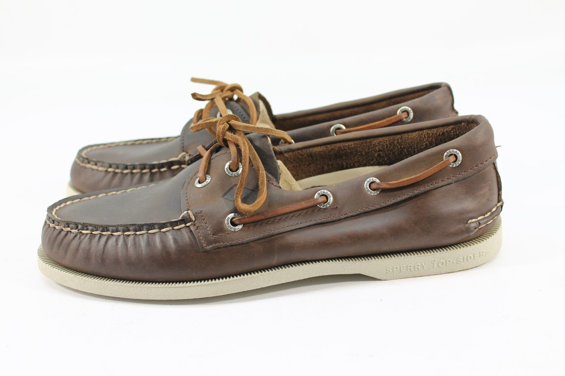thumbnail 3 - Sperry Top-Sider A/O 2-Eye Men's Brown Boat Shoe FLSAMP