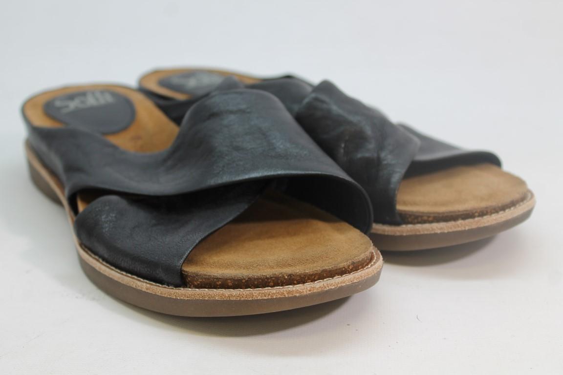 Sofft Brylee Women's Black Oyster Sandals 9.5M (ZAP8588)