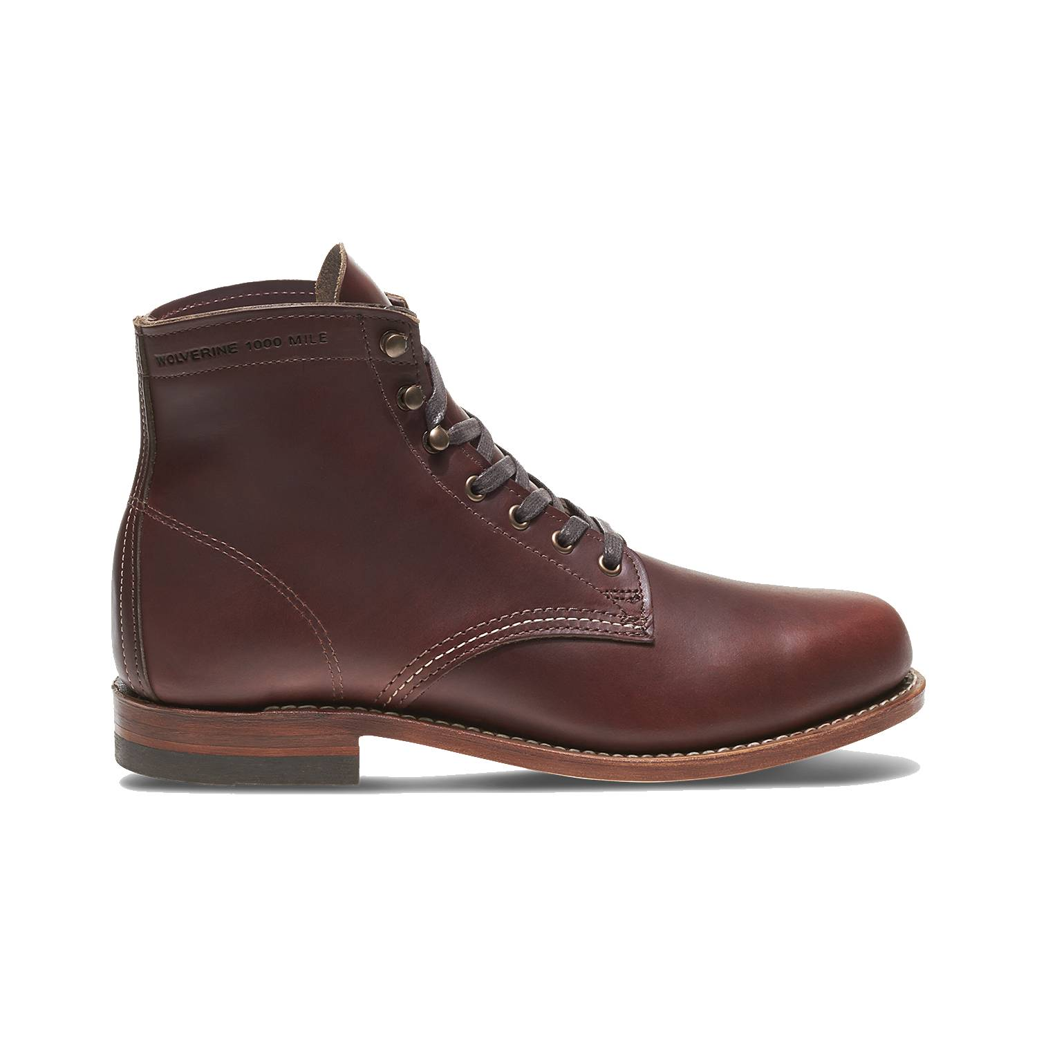 Wolverine-1000-Mile-Men-039-s-Leather-Boots-Cordovan-8-Black-Brown-Rust thumbnail 15