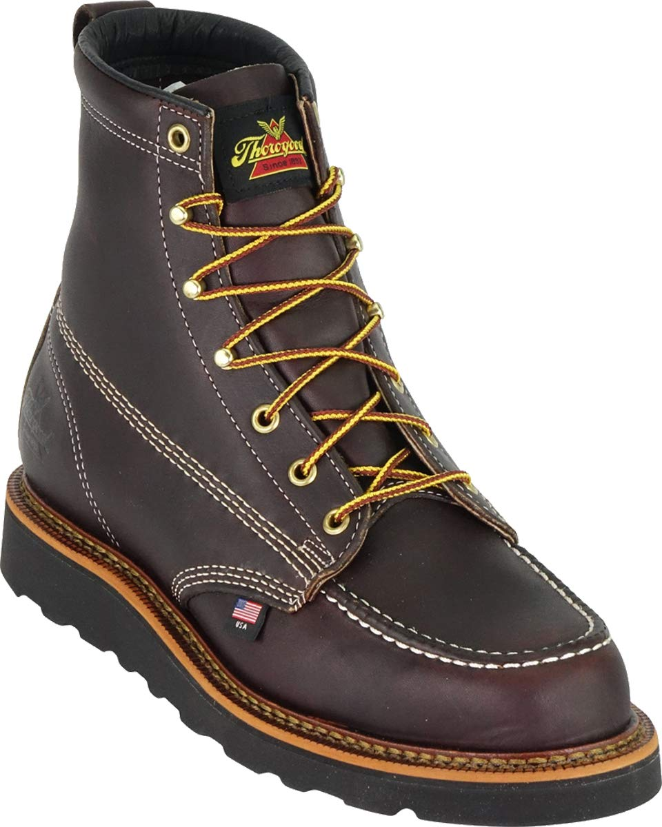 Thorogood-American-Heritage-Men-039-s-6-034-Moc-Toe-Max-Wedge-Non-Safety-Boots thumbnail 16