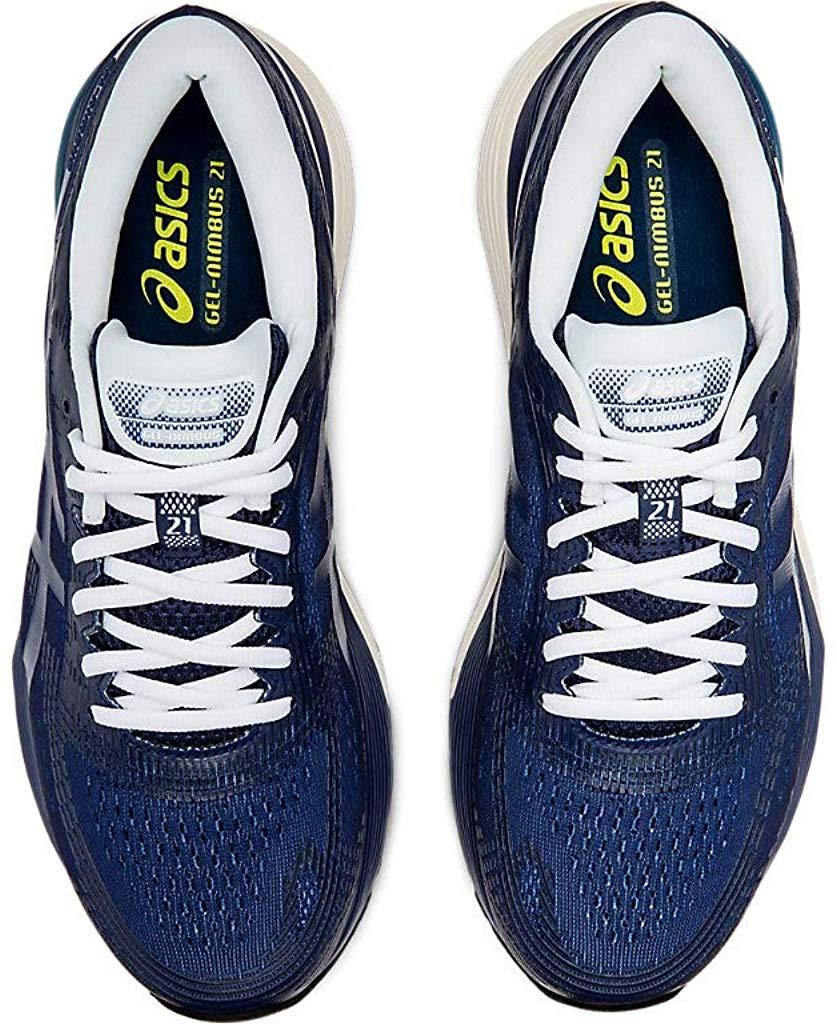 ASICS-1011A169-003-Men-039-s-Gel-Nimbus-21-Black-Lemon-Spark-Running-Shoe miniatura 16