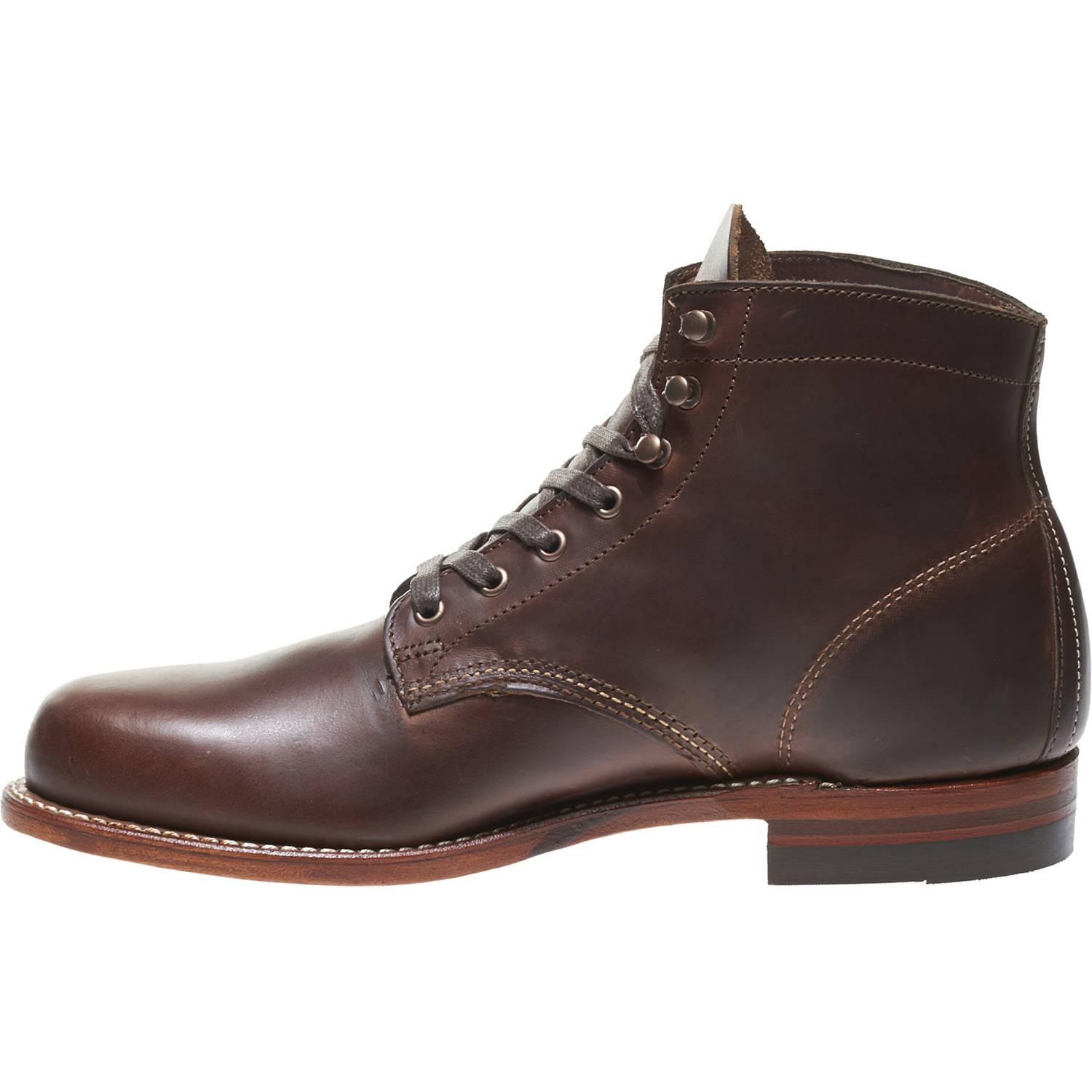 Wolverine-1000-Mile-Men-039-s-Leather-Boots-Cordovan-8-Black-Brown-Rust thumbnail 8