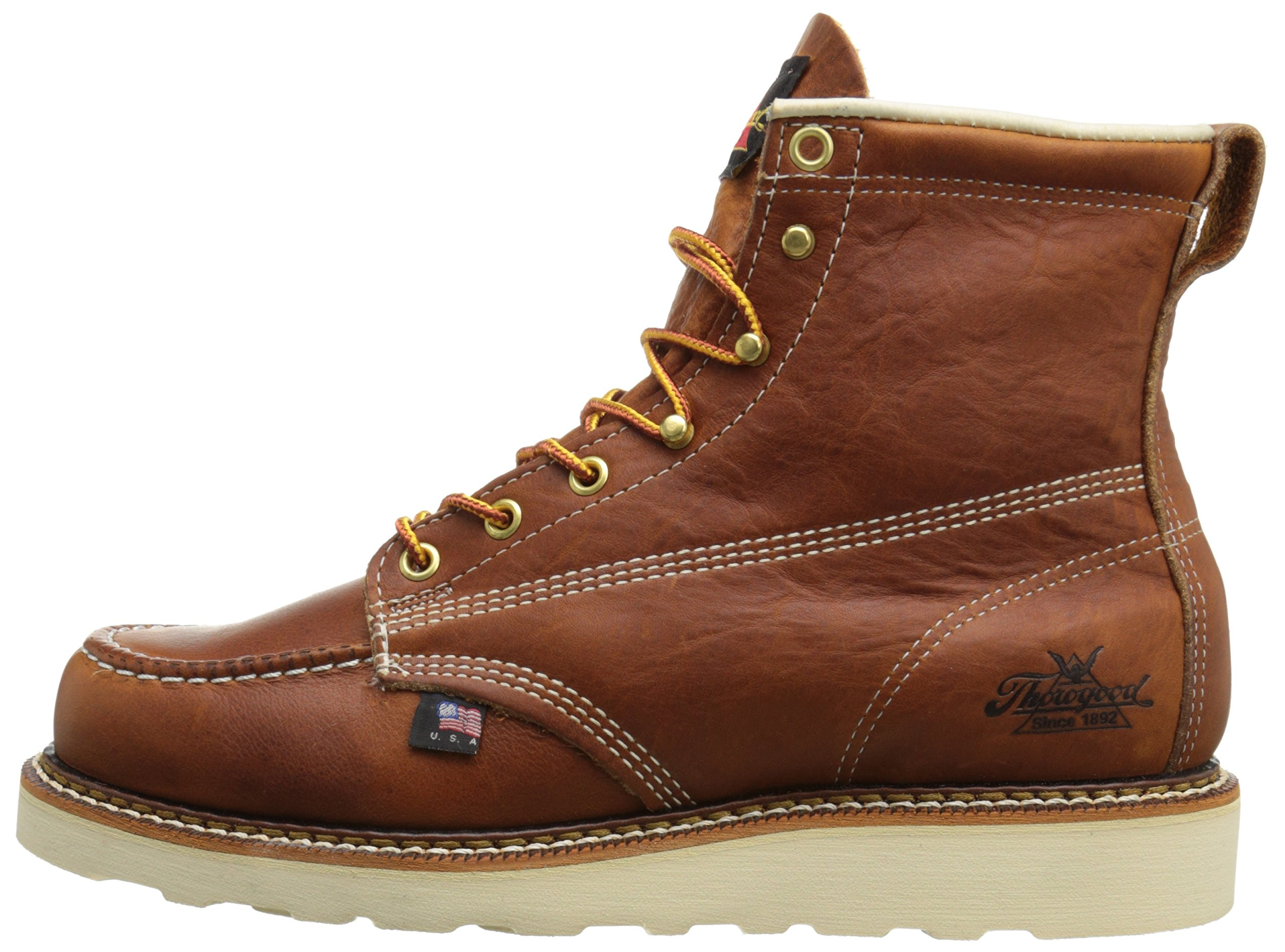 Thorogood-American-Heritage-Men-039-s-6-034-Moc-Toe-Max-Wedge-Non-Safety-Boots thumbnail 24