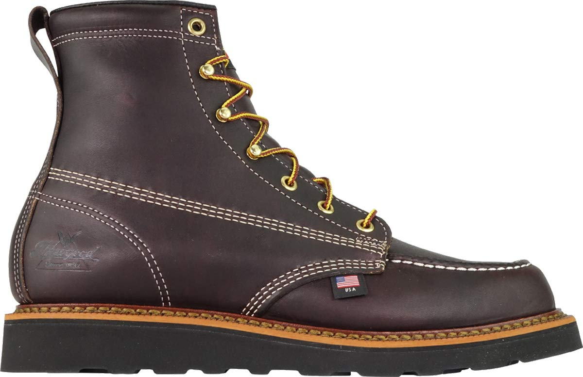 Thorogood-American-Heritage-Men-039-s-6-034-Moc-Toe-Max-Wedge-Non-Safety-Boots thumbnail 11