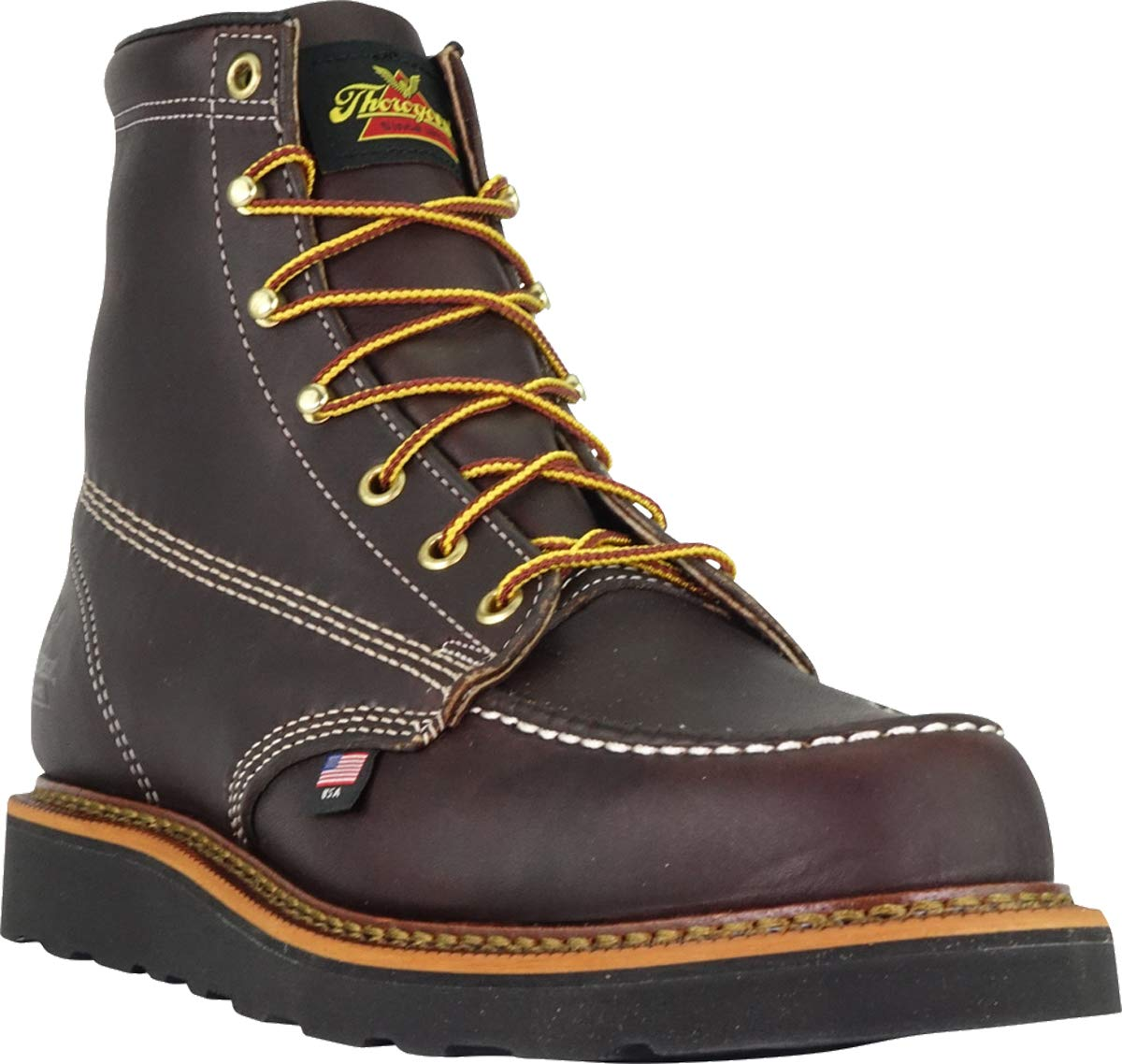 Thorogood-American-Heritage-Men-039-s-6-034-Moc-Toe-Max-Wedge-Non-Safety-Boots thumbnail 12