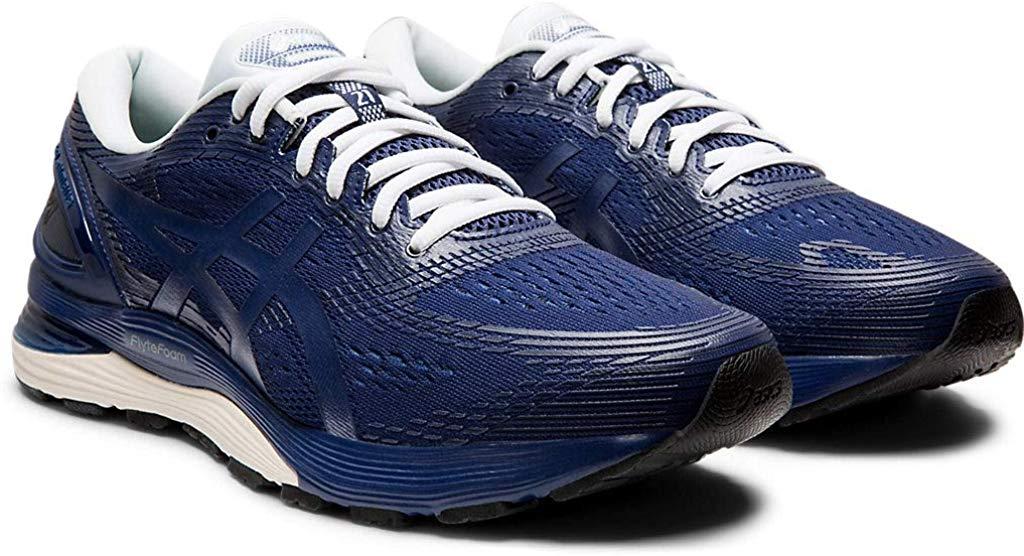 ASICS-1011A169-003-Men-039-s-Gel-Nimbus-21-Black-Lemon-Spark-Running-Shoe miniatura 12