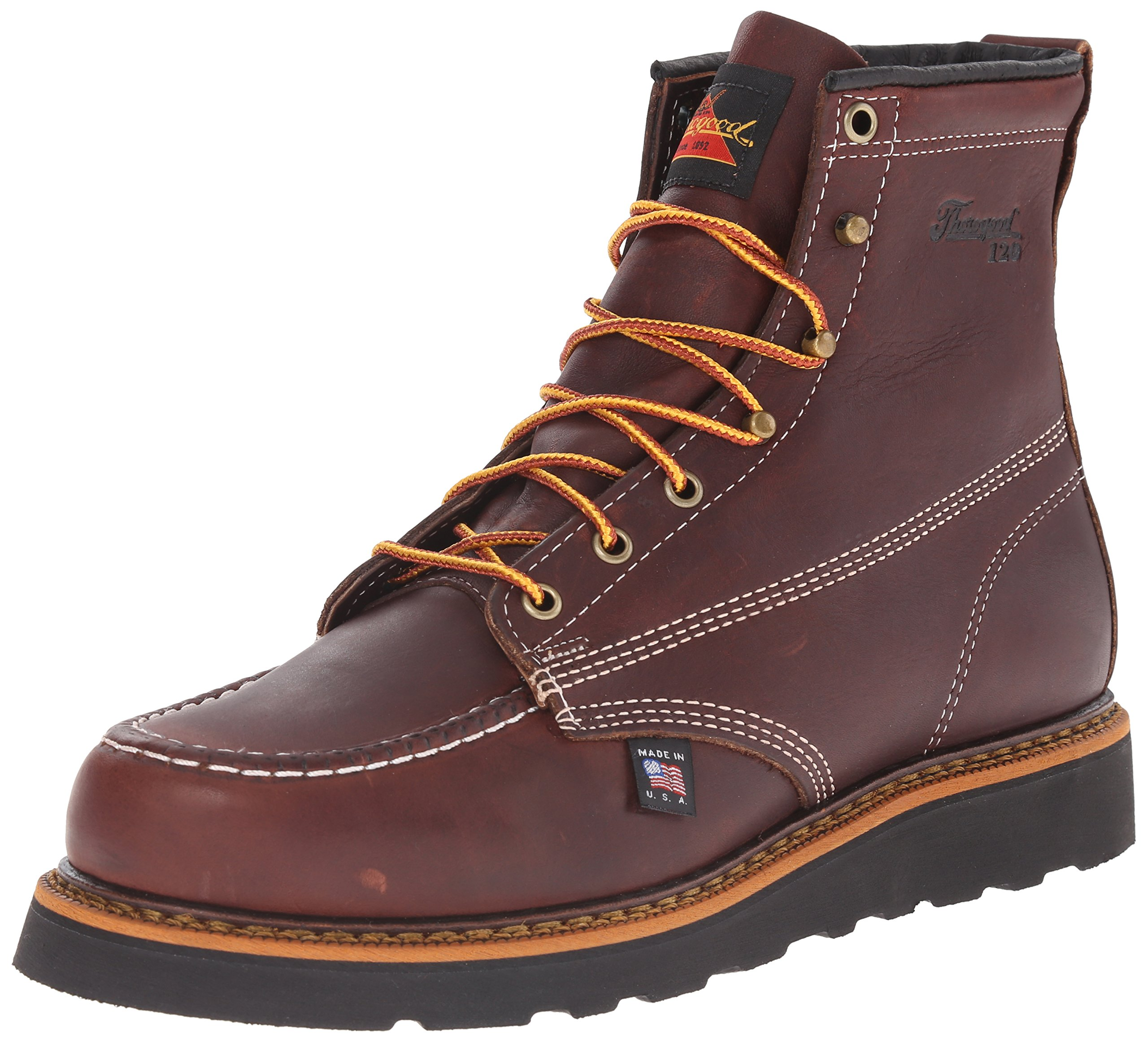 Thorogood-American-Heritage-Men-039-s-6-034-Moc-Toe-Max-Wedge-Non-Safety-Boots thumbnail 13