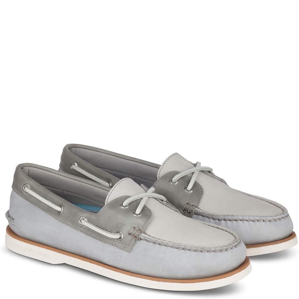 2-Eye Grey/Light Grey Boat Shoe | eBay