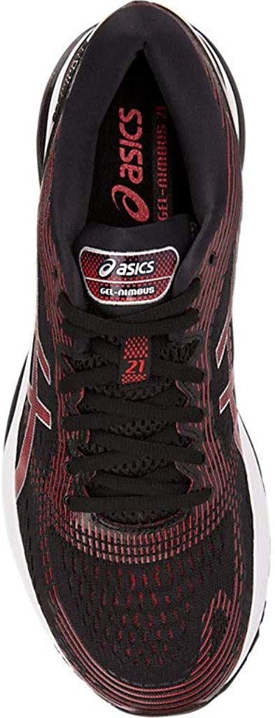 ASICS-1011A169-003-Men-039-s-Gel-Nimbus-21-Black-Lemon-Spark-Running-Shoe miniatura 7