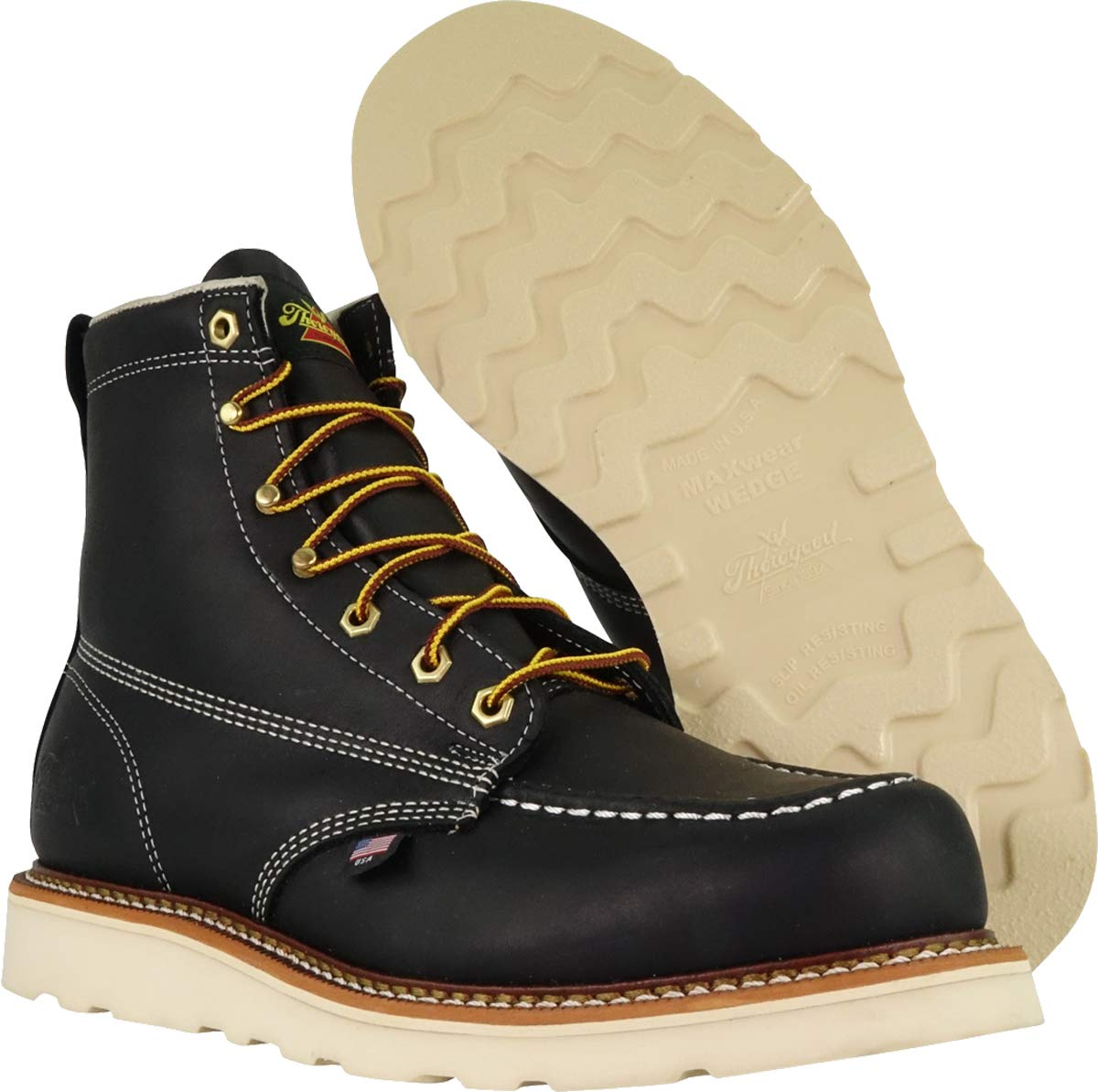 Thorogood-American-Heritage-Men-039-s-6-034-Moc-Toe-Max-Wedge-Non-Safety-Boots thumbnail 5
