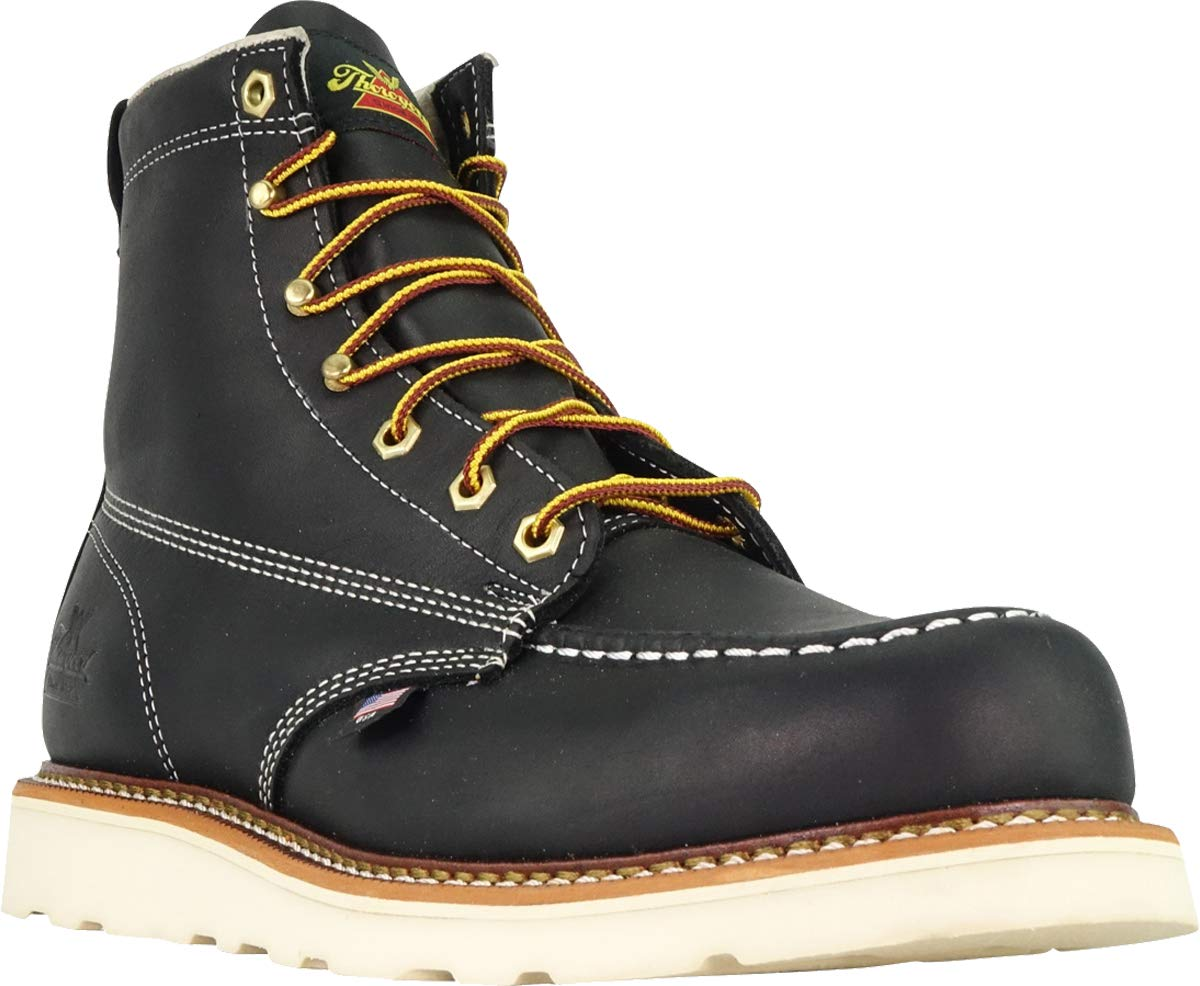 Thorogood-American-Heritage-Men-039-s-6-034-Moc-Toe-Max-Wedge-Non-Safety-Boots thumbnail 4