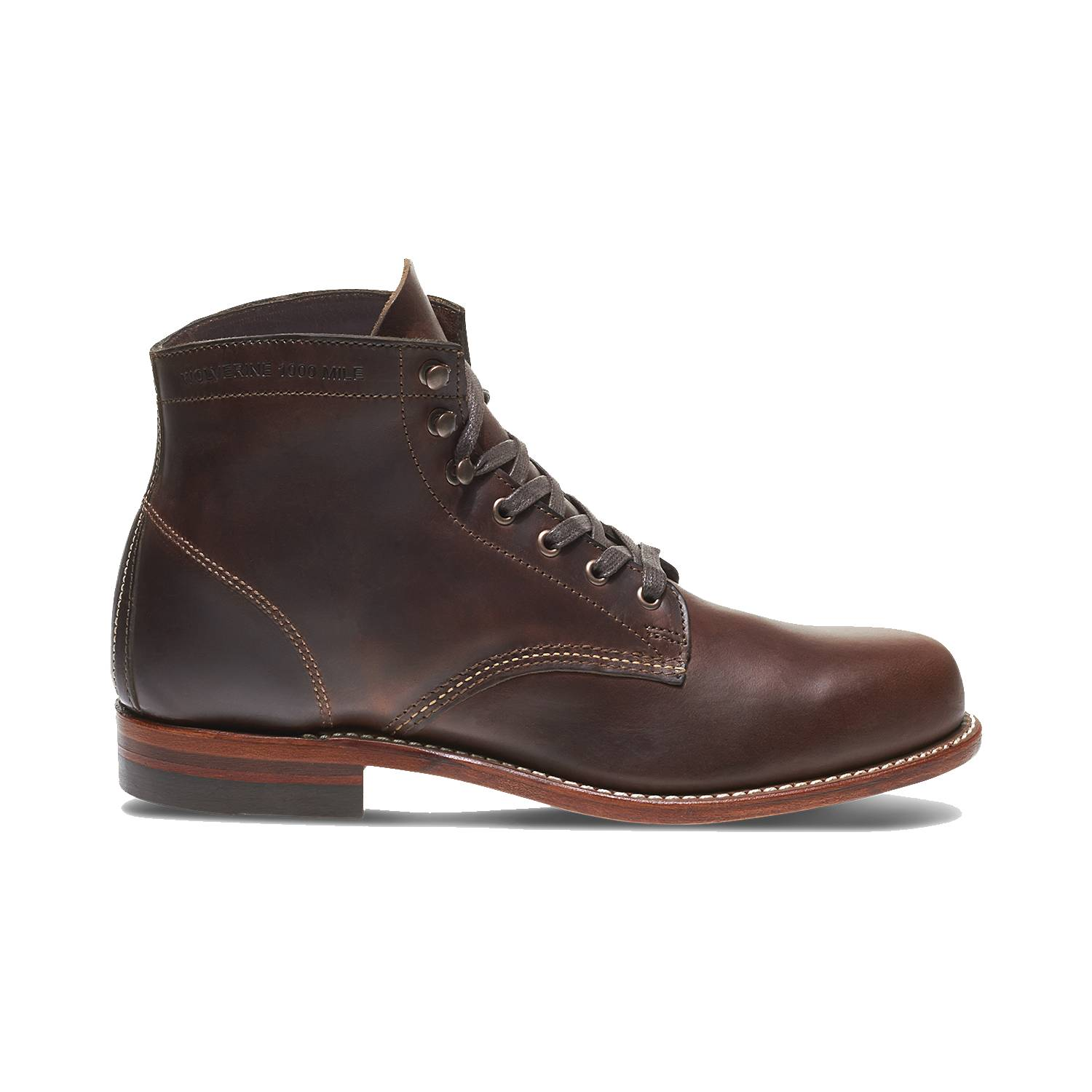 Wolverine-1000-Mile-Men-039-s-Leather-Boots-Cordovan-8-Black-Brown-Rust thumbnail 9