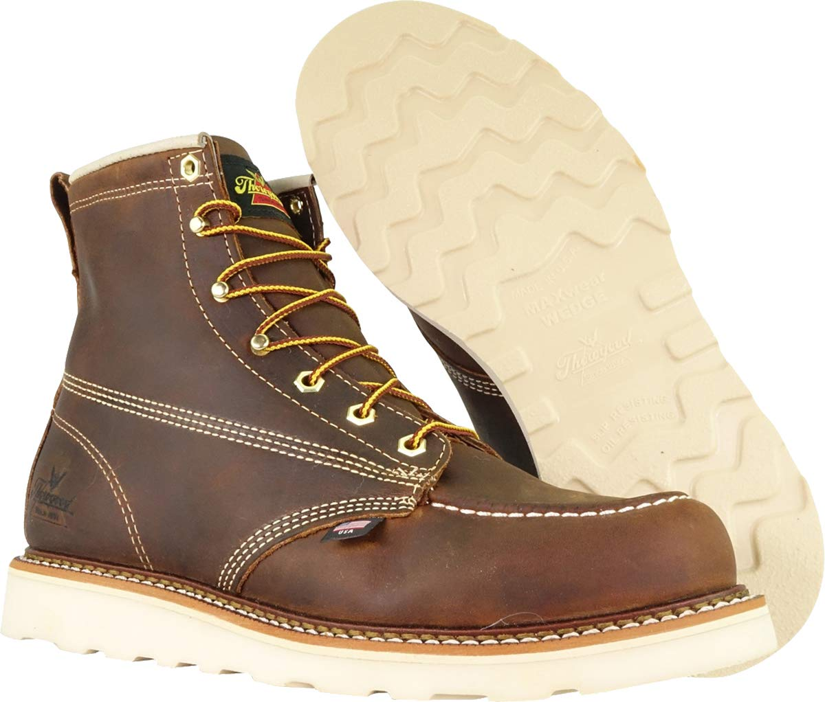 Thorogood-American-Heritage-Men-039-s-6-034-Moc-Toe-Max-Wedge-Non-Safety-Boots thumbnail 29