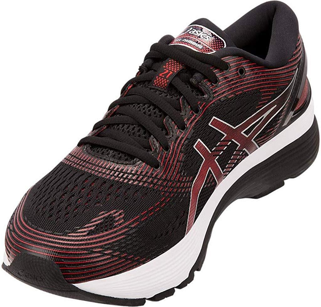 ASICS-1011A169-003-Men-039-s-Gel-Nimbus-21-Black-Lemon-Spark-Running-Shoe miniatura 4