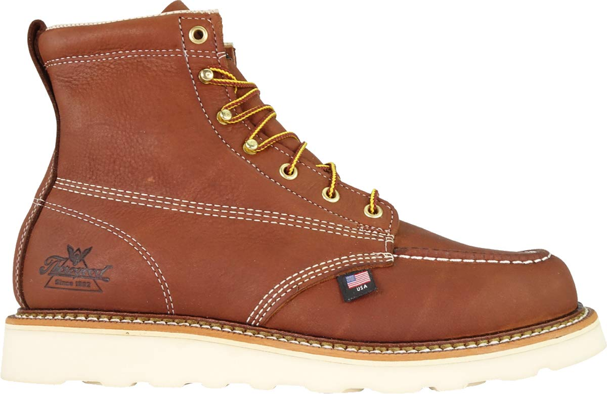 Thorogood-American-Heritage-Men-039-s-6-034-Moc-Toe-Max-Wedge-Non-Safety-Boots thumbnail 18