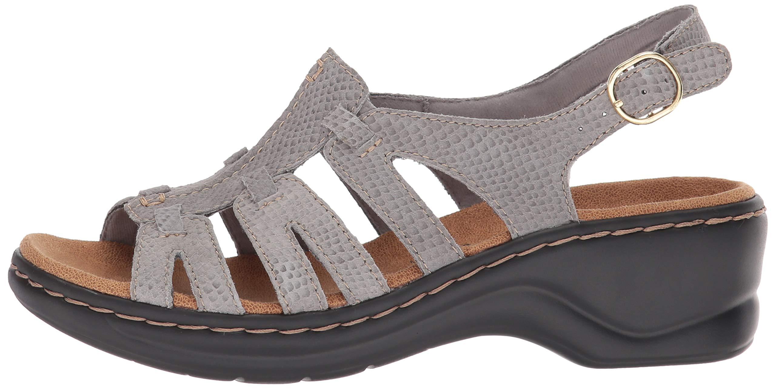 Women/'s Lexi Marigold Q gris clair Snake Print Platform Sandal Clarks 26134189