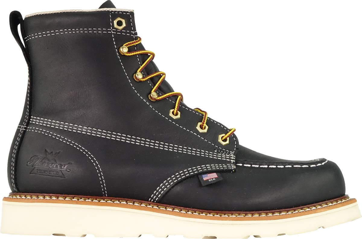 Thorogood-American-Heritage-Men-039-s-6-034-Moc-Toe-Max-Wedge-Non-Safety-Boots thumbnail 3
