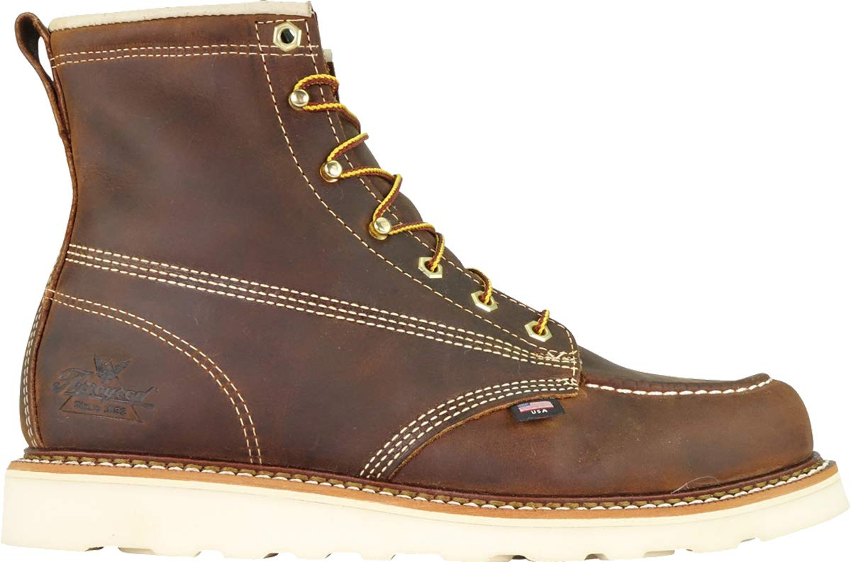 Thorogood-American-Heritage-Men-039-s-6-034-Moc-Toe-Max-Wedge-Non-Safety-Boots thumbnail 27