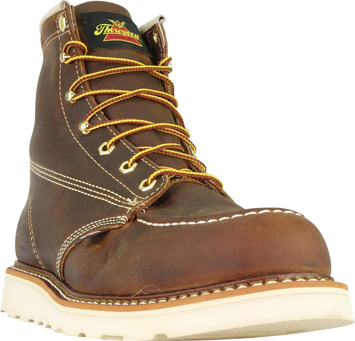 Thorogood-American-Heritage-Men-039-s-6-034-Moc-Toe-Max-Wedge-Non-Safety-Boots thumbnail 28