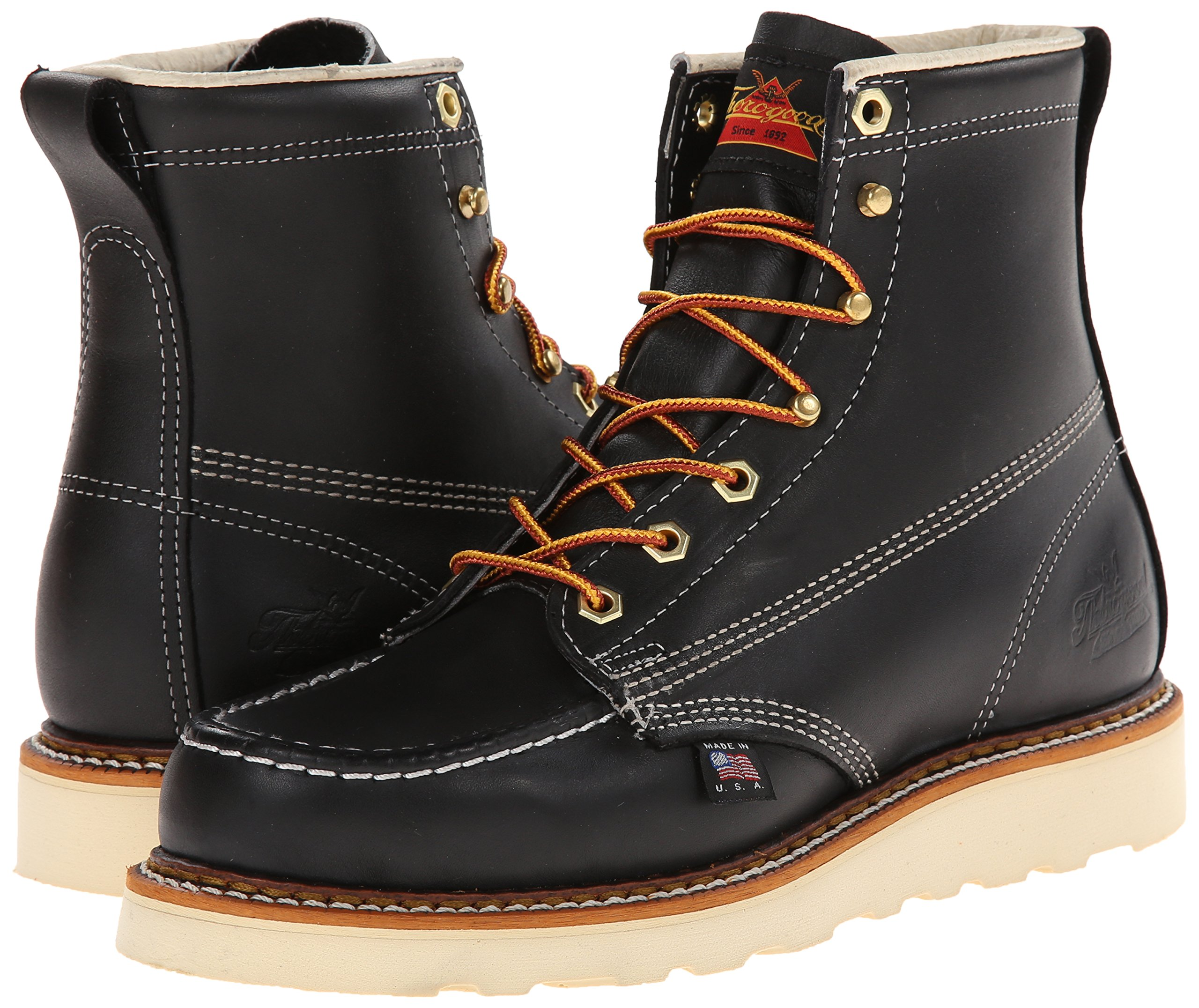 Thorogood-American-Heritage-Men-039-s-6-034-Moc-Toe-Max-Wedge-Non-Safety-Boots thumbnail 7