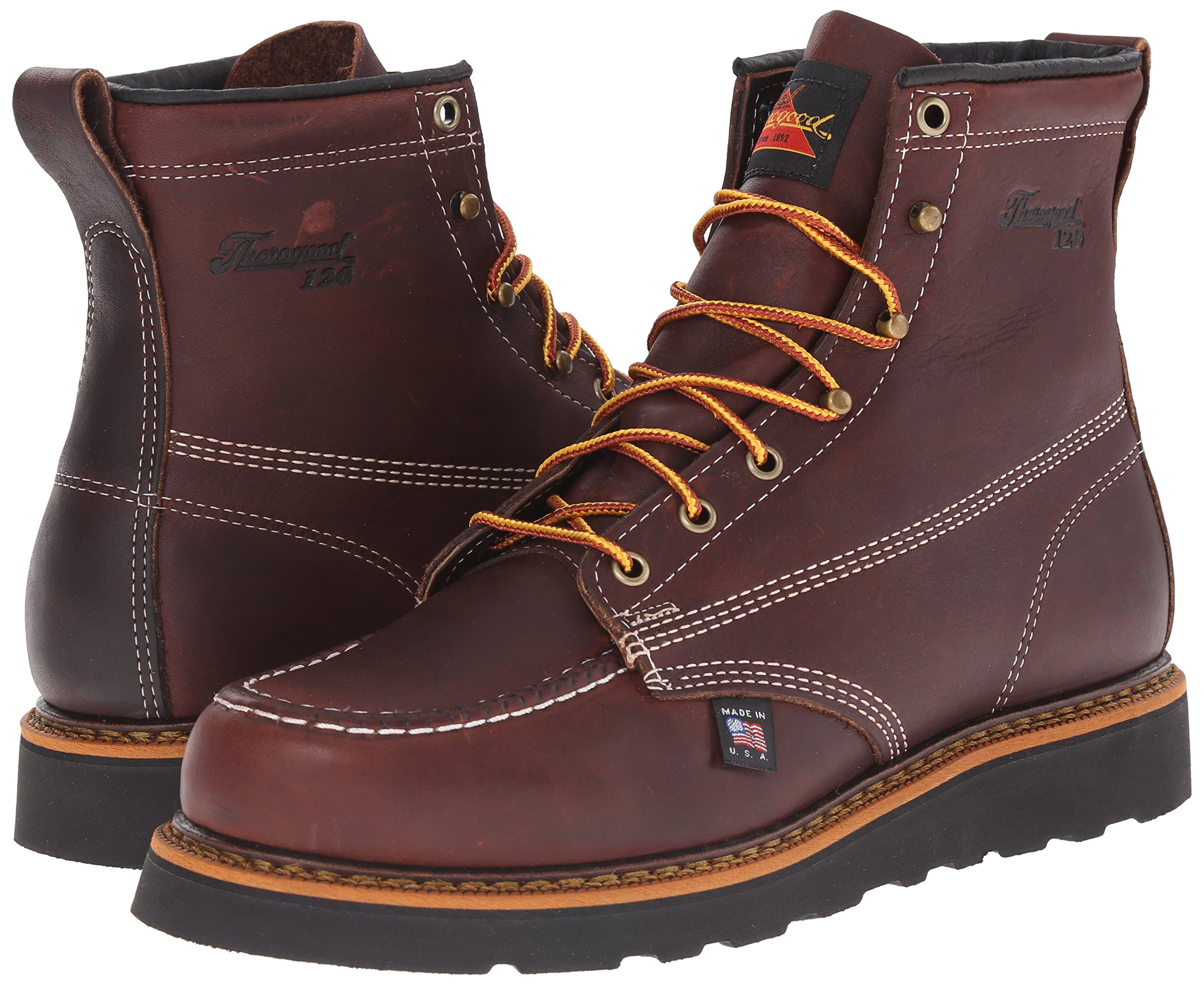 Thorogood-American-Heritage-Men-039-s-6-034-Moc-Toe-Max-Wedge-Non-Safety-Boots thumbnail 15