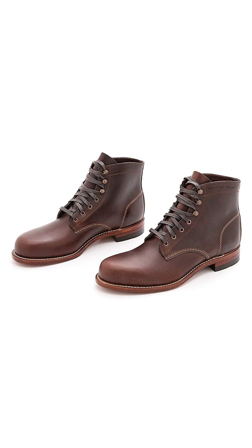 Wolverine-1000-Mile-Men-039-s-Leather-Boots-Cordovan-8-Black-Brown-Rust thumbnail 7