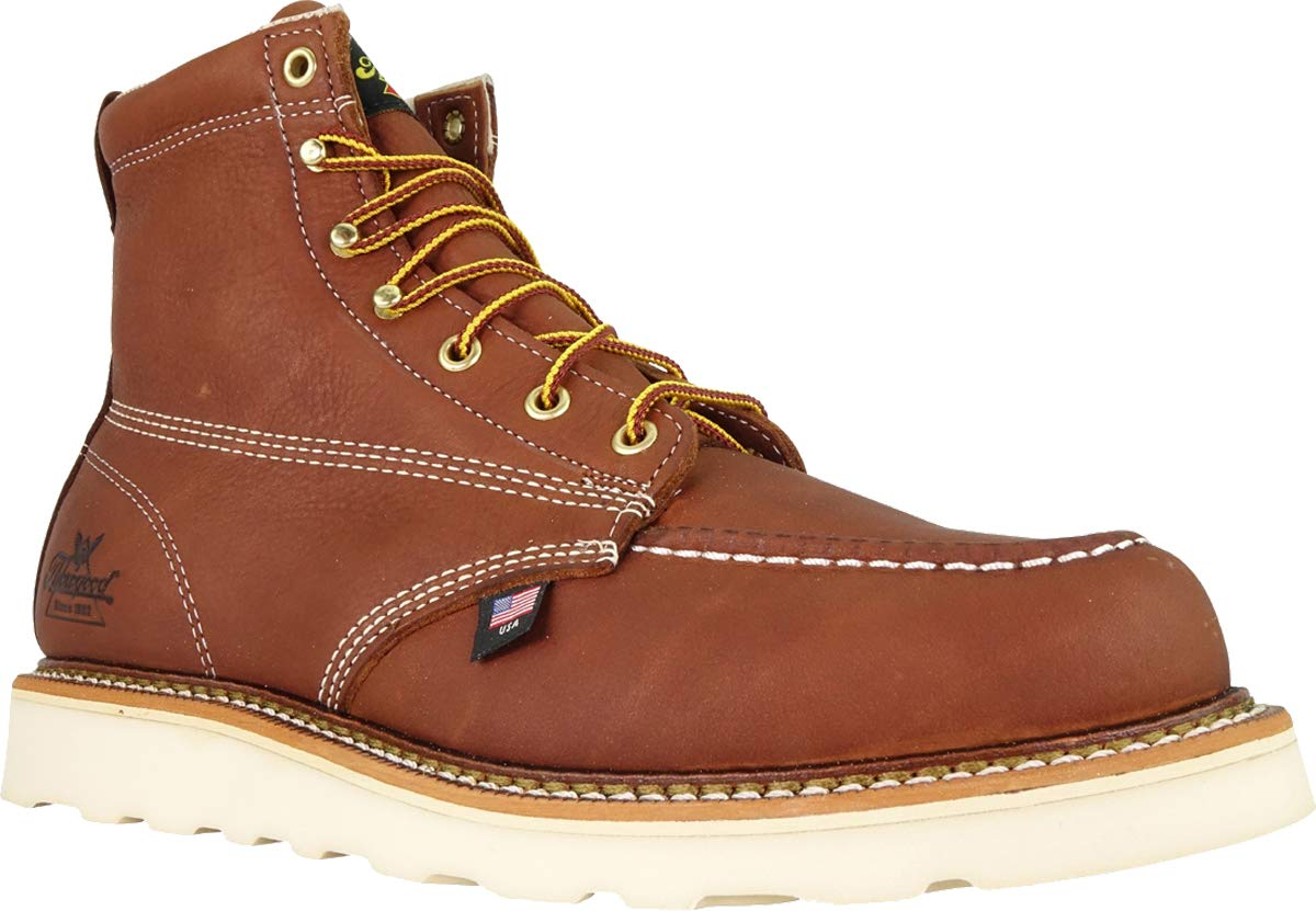 Thorogood-American-Heritage-Men-039-s-6-034-Moc-Toe-Max-Wedge-Non-Safety-Boots thumbnail 19