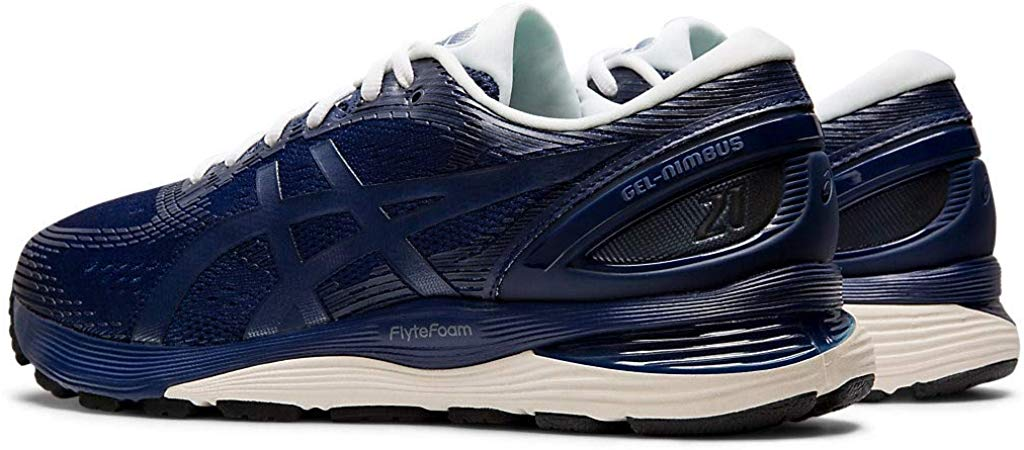 ASICS-1011A169-003-Men-039-s-Gel-Nimbus-21-Black-Lemon-Spark-Running-Shoe miniatura 13