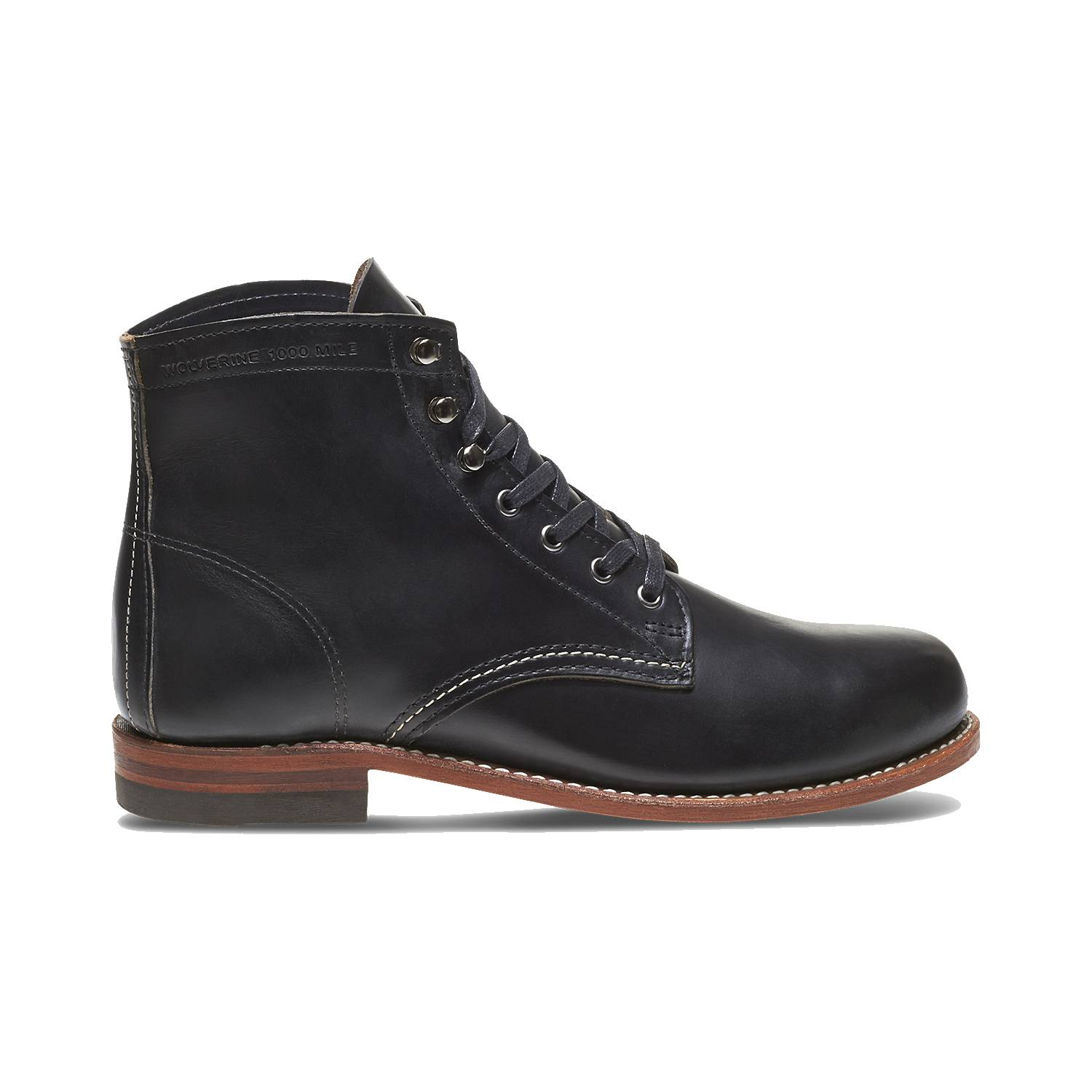 Wolverine-1000-Mile-Men-039-s-Leather-Boots-Cordovan-8-Black-Brown-Rust thumbnail 3