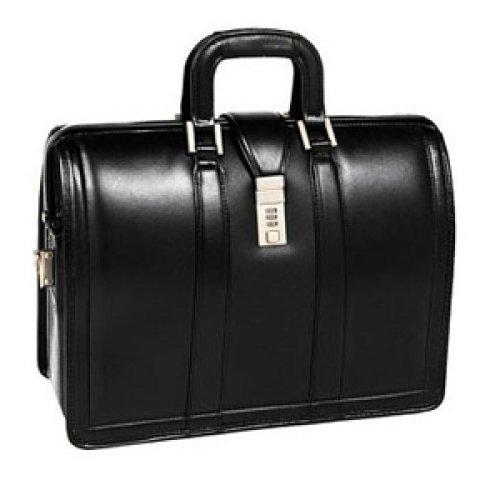 "McKleinUSA Gresham Leather Litigator Laptop Brief for 15.6/"" Laptops Black"