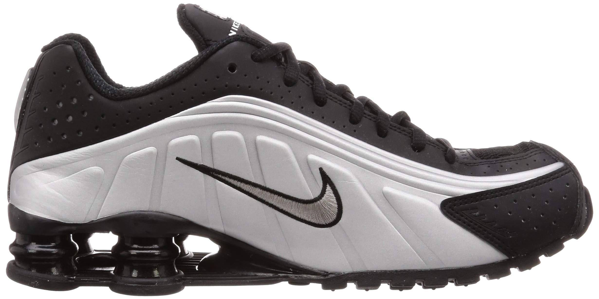 Details about Nike Mens Shox R4 (Black/Black-Metallic Silver