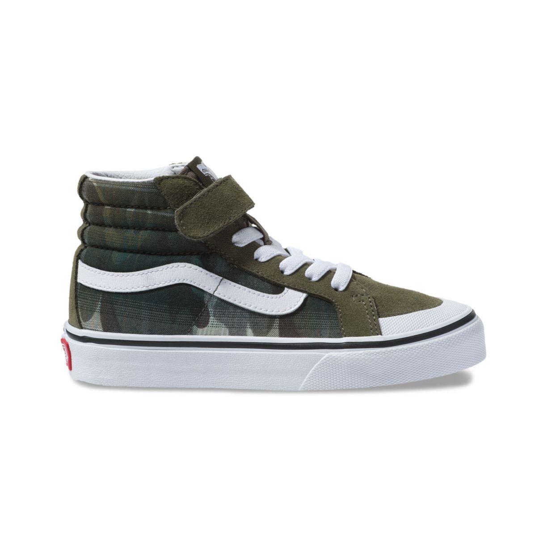 Details about Vans Kids Plaid Camo SK8 Hi Reissue 138 V Sneakers