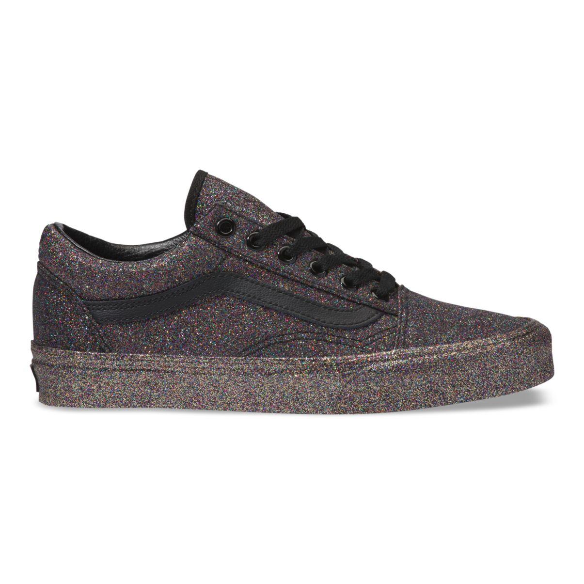 Détails sur Vans Old Skool Sneaker Paillettes Rainbow Femmes Noir afficher le titre d'origine