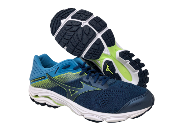 Mizuno Wave Inspire 15 Mens Run Shoes Green Cushioned Running Trainers Sneakers